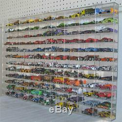 108 Hot Wheels 164 Scale Diecast Display Case, UV Protection Acrylic, AHW64-108