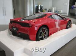118 Hot Wheels Elite Ferrari 458 Speciale Red New