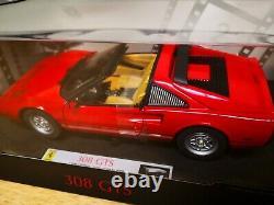 118 Hotwheels Elite FERRARI 308 GTS RED L/Ed 1 of 5000 Magnum PI edition. P9908