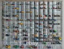 144 Hot Wheels 164 Scale Diecast Display Case, UV Protection Acrylic, AHW64-144