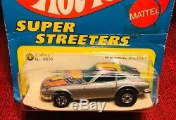 1977 Hot Wheels #9639 Z Whiz Datsun 240 Z Die-cast Super Streeters On Card
