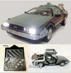 1/18 Back To The Future Time Machine Super Elite Lights Rare Diecast
