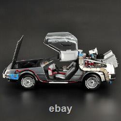 1/18 Scale Back to the Future DeLorean Time Machine Elite Diecast car Model Toy