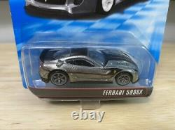 2011 HOT WHEELS SPEED MACHINES FERRARI 599XX ZAMAC With PROTECTOR EXTREMELY RARE