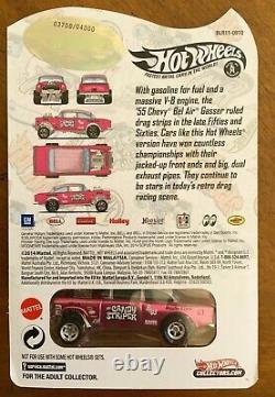 2014 HOT WHEELS RLC CANDY STRIPER'55 Chevy Bel Air Gasser #3700/4000 FREE SHIP