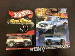 2014 RLC Hot Wheels Real Riders 83 Chevy Silverado 4x4 & Boulevard Silverado