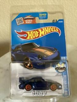 2016 Hot Wheels Super Treasure HuntPORSCHE 993 GT2blue with Half Roll Cage VHTF