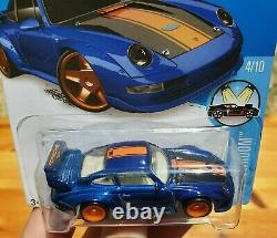 2016 Hot Wheels Super Treasure Hunt Blue Porsche 993 Gt2 1/2 Roll Cage Vhtf