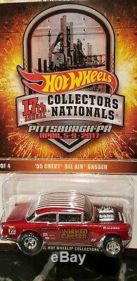 2017 Hot Wheels 17th Nationals Convention #2 Gasser 55 Chevy Low #180 Of 2800