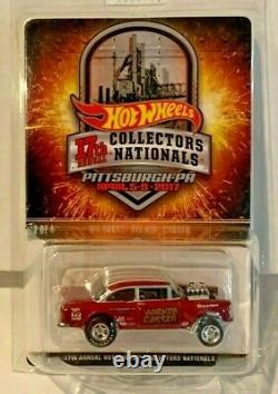 2017 Hot Wheels 17th Nationals Convention'55 Chevy Bel Air Gasser #'d 2124/2800