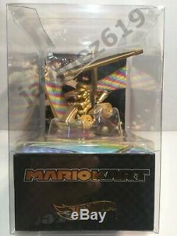 2019 SDCC Exclusive New Mattel Hot Wheels GOLD CHASE Mario Kart SEALED M22