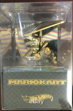 2019 SDCC Mattel Hot Wheels Mario Kart Metal Die-Cast Car Figure GOLD In-Stock