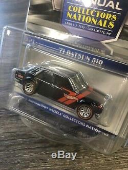 2020 Hot Wheels 20th Nationals Convention 4-car Set Chevy Dodge GMC Datsun