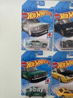 2021 Hot Wheels'71 Datsun 510 Super Treasure Hunt & (2)'71 Datsun 510 Mainline