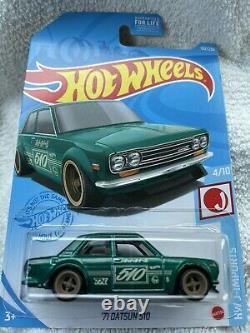2021 Hot Wheels'71 Datsun 510 Super Treasure Hunt &'71 Datsun 510 Main line