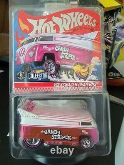 2021 Hot Wheels RLC Exclusive Candy Striper Volkswagen Drag Bus Pink Variant