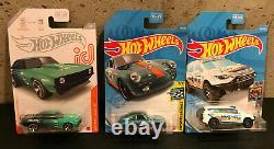 2021 Hot Wheels Super Treasure Hunt Gulf Porsche 356, ID Chase Falken Camaro, TH