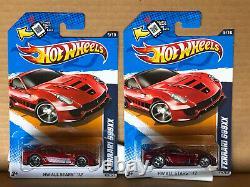 2 Hot Wheels-Ferrari 599XX-1 2012 Super Treasure Hunt-1 Regular Car-All Stars