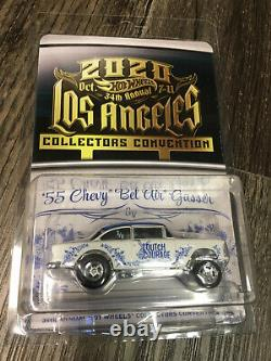 4-car Set 2020 Hot Wheels 34th LA Convention 55 Chevy 41 Willys 93 Nissan VW T1