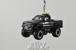 Back to the Future'87 Toyota 4x4 Pickup Truck Custom Christmas Ornament 1/64