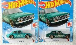 COLOR VARIATION 2021 Hot Wheels'71 Datsun 510 Super Treasure Hunt JDM