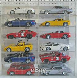Display Case Wall Cabinet Acrylic for 118 Scale Diecast Nascar Cars Hot Wheels