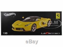 Ferrari Laferrari F70 Hybrid Elite Yellow 1/18 Diecast Model Car Hotwheels Bct81