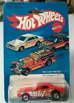 HOT WHEELS'67 red flamed camaro # 3913 1982 HK MIBP, RARE