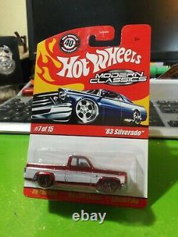 HOT WHEELS Red 83 Silverado Modern Classics, MINT shipped in Protecto Pak