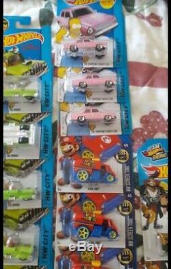 HUGE Wholesale Lot(117)-2014-15 Hot Wheels Batman 164 DieCast, Homer & Mario Bro