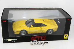 HotWheels ELITE 118 scale Ferrari 288 GTO 1984 Yellow(Limited Ver) Hot Wheels