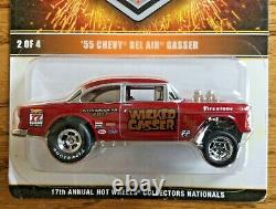 Hot Wheels 17th Collectors Nationals Wicked Gasser 55 Chevy Bel Air 0233/2800