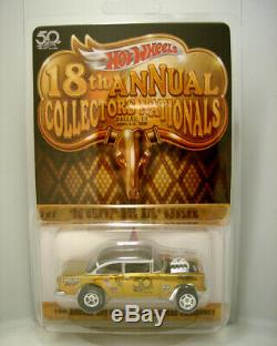 Hot Wheels 18th Collectors Nationals'55 Chevy Gasser Finale Car #723 LOW NUM