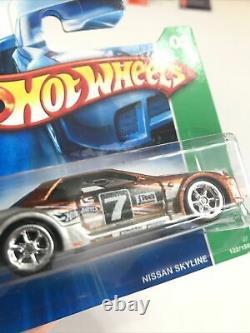 Hot Wheels 2007 Super Treasure Hunt Short Card Series Nissan Skyline Lot Of 3