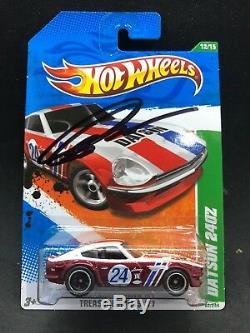 Hot Wheels 2011 Datsun 240z BRE JDM Super Treasure Hunt SIGNED By Peter Brock