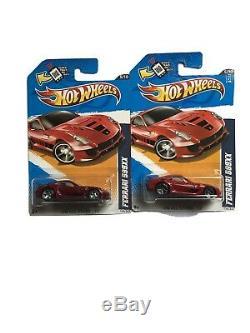 Hot Wheels 2012 Ferrari 599XX Red Super Treasure Hunt Real Riders Rare GRAIL HTF