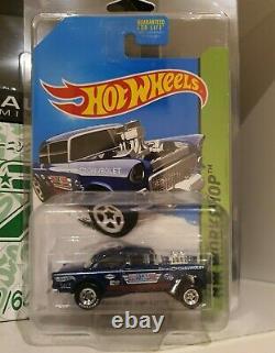 Hot Wheels 2014 Super Treasure Hunt 55 Chevy Bel Air Gasser FREE PROTECTOR