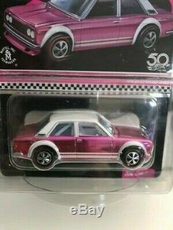 Hot Wheels 2018 Rlc Exclusive Collectors Convention Pink Party 71 Datsun 510