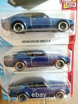 Hot Wheels 2018 Super Treasure Hunt Nissan Skyline 2000 GT-R 3x PAINT VARIATIONS