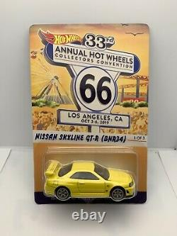 Hot Wheels 2019 33rd Convention Nissan Skyline Gt-r (bnr34) Low #304/5000