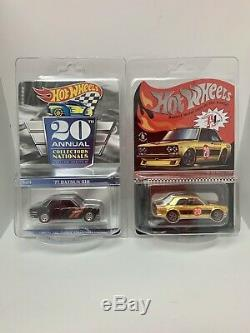Hot Wheels 2020 Nationals Convention 71 Datsun 510 & RLC 510 lot Ready to Ship