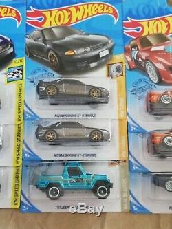 Hot Wheels 2020 Super Treasure Hunt Nissan GTR R35 R32 Honda RX7 Porsche 12 PCs