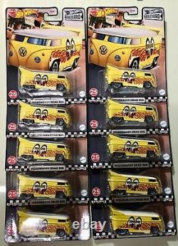 Hot Wheels 2021 Boulevard Volkswagen Drag Bus Mega Lot Of 10 Mooneyes
