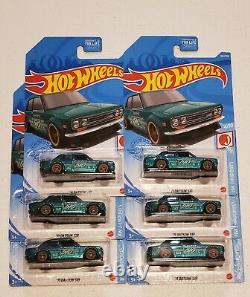 Hot Wheels 2021 Super Treasure Hunt'71 Datsun 510 LOT OF 6