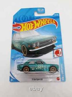 Hot Wheels 2021 Super Treasure Hunt 71 Datsun 510 US Card