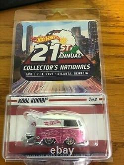 Hot Wheels 21st Nationals Convention 2021 Atlanta Pink & White Kool Kombi