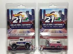 Hot Wheels 21st Nationals Convention KOOL KOMBI &'83 CHEVY SILVERADO 4x4 Match#