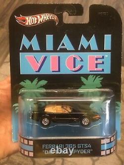 Hot Wheels 4-car Ferrari Set Miami Vice /Magnum Pi / Hart To Hart