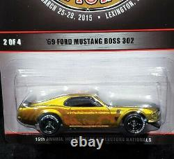 Hot Wheels 69 1969 Ford Mustang Boss 302 2015 Nationals Convention Car 354/2000