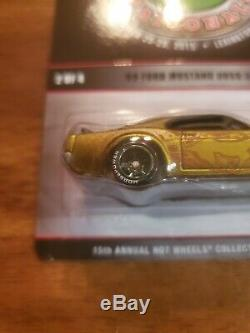 Hot Wheels'69 FORD MUSTANG BOSS 302 Gold 1969 withRR 15th NATIONALS Only 2000 RLC